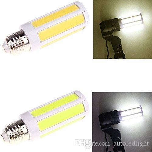 E27 9W COB LED Corn Spotlight Lamp Bulb AC220V Warm Pure White Bright lighting bulls tubes led