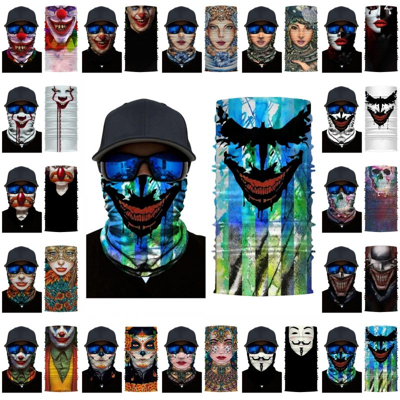 DHL Shipping Seamless Bandana Neck Gaiter Seamless Headwear Sports Headband Motorcycle Face Shield for Women Men Magic Scarf BWF298