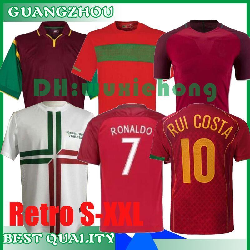 1998 1999 2010 2012 2016 2004 2002 ретро футбол Джерси RUI COSTA FIGO RONALDO маек Camisetas де Futbol Униформа S-XXL