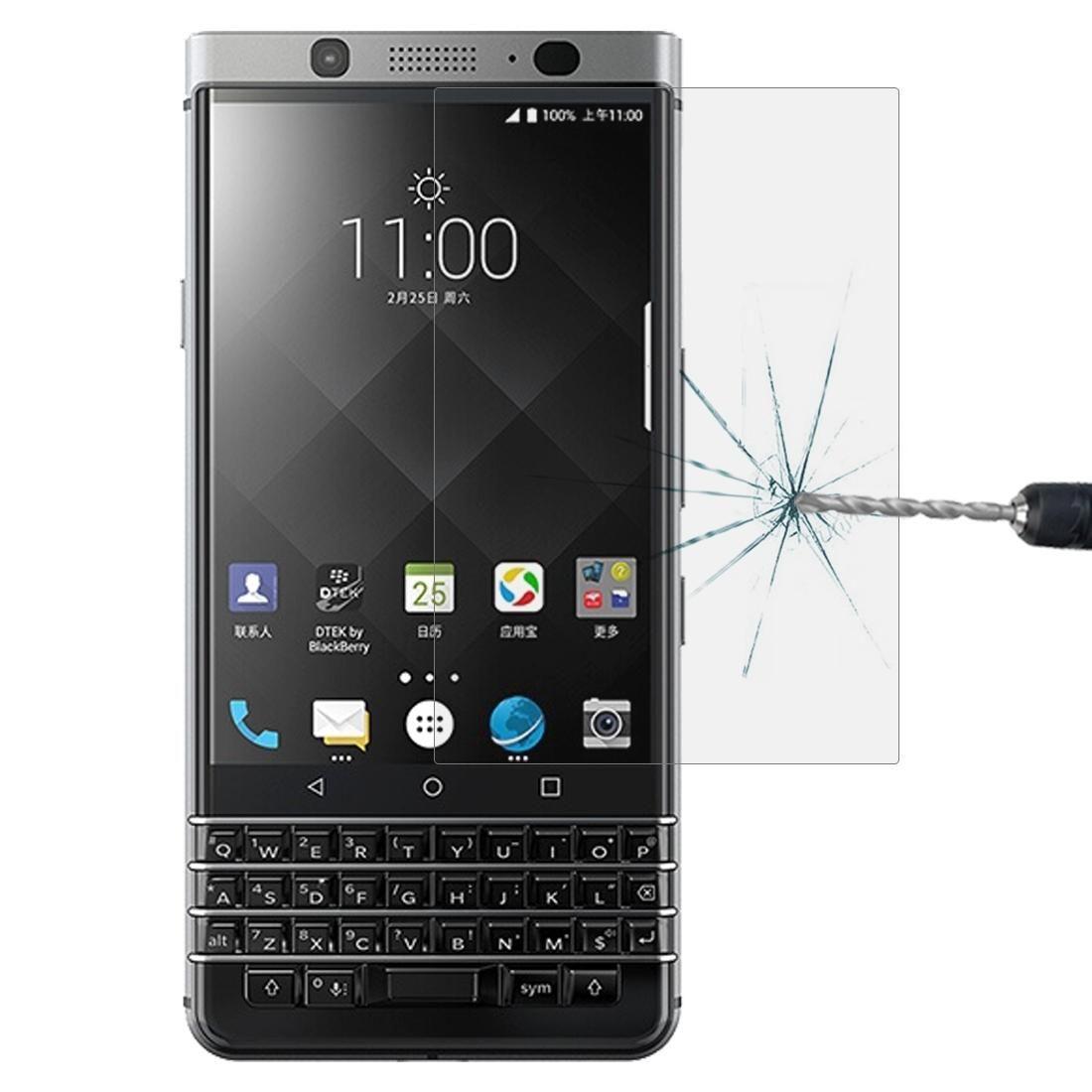 0.26mm 9H superficie de la pantalla 2.5D dureza de borde curvado de vidrio templado protector para BlackBerry Keytwo