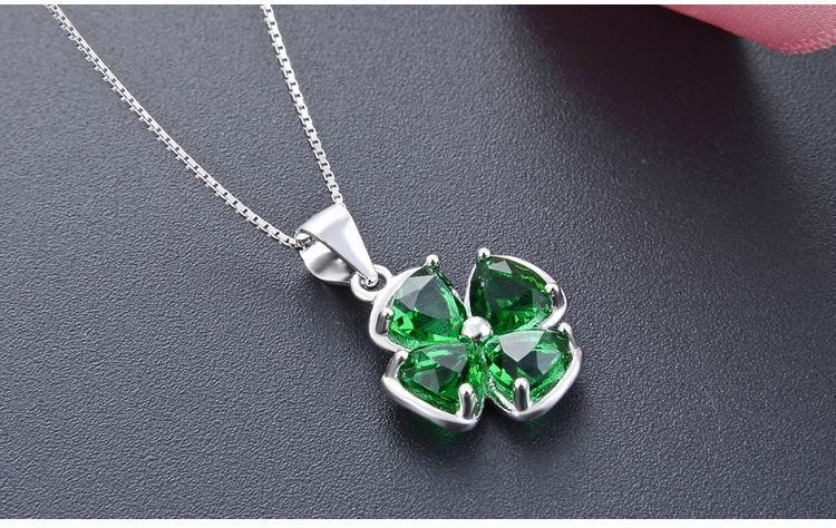 Weihnachtsgeschenk hochwertigen Frauen S925 Sterling Silber Anhänger für Halsketten Silberschmuck Lieferanten Kubikzircon Silber Collier DDS C36