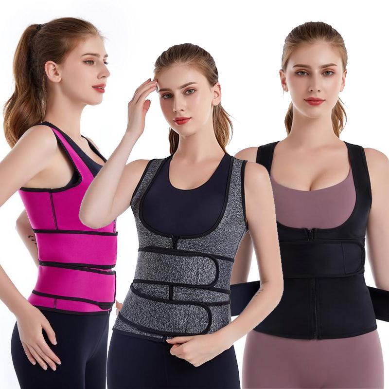 Private Label Kadınlar Zayıflama Egzersiz Sıkıştırma Çift Bant Yelek Neopren Bel Trainer
