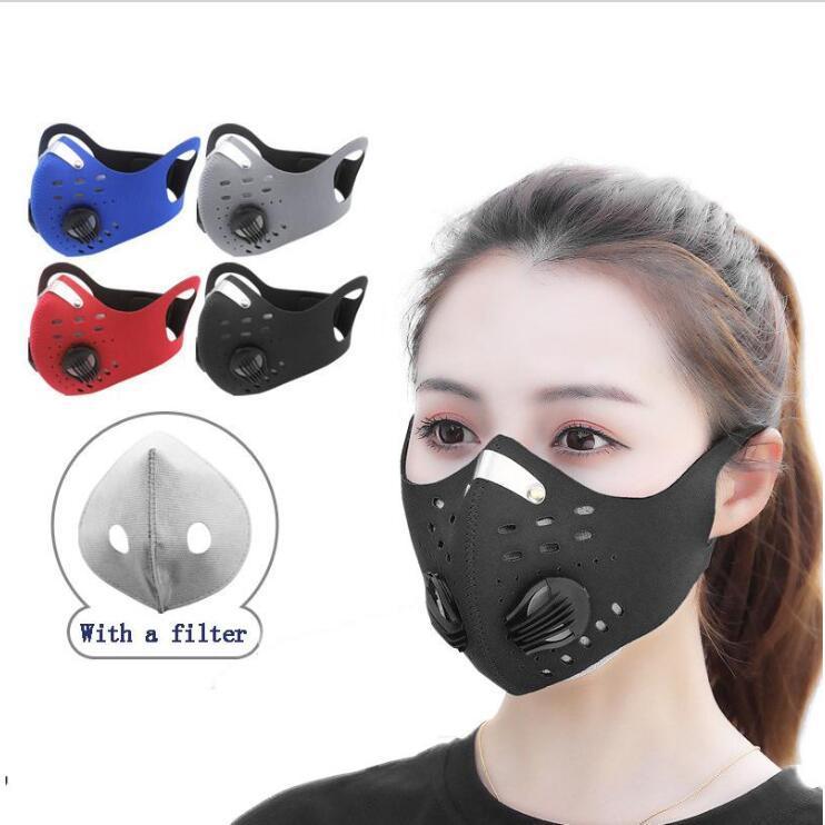 Maske Gesicht Radfahren Maske staubdicht winddicht Anti-Fog-Aktivkohle-Atemventil Masken Wiederverwendbare Reiten mit Filter Maske LXL1425