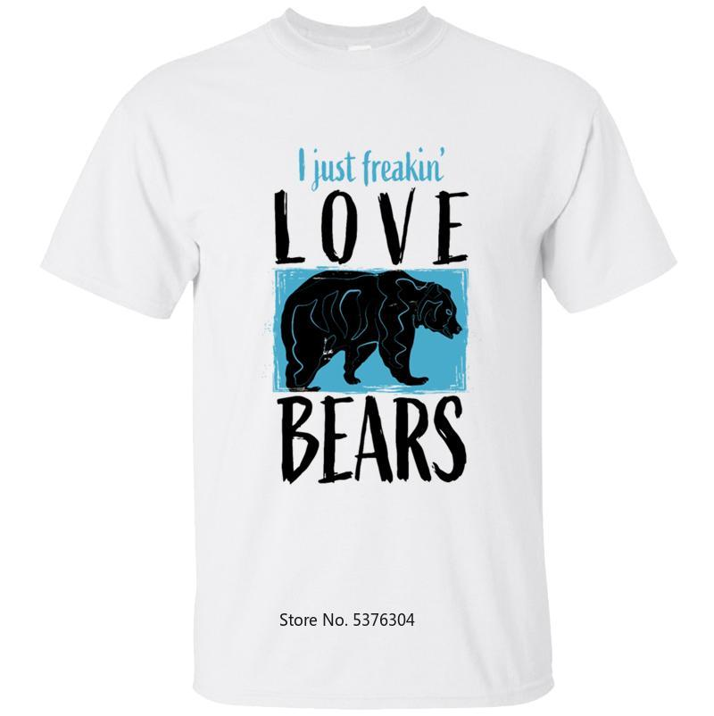Fashion Bear T-Shirt Man Mens T Shirt Tshirt Solid Color Round Neck Cool Male Oversize 5xl 2020 Tops Camisetas Hombre