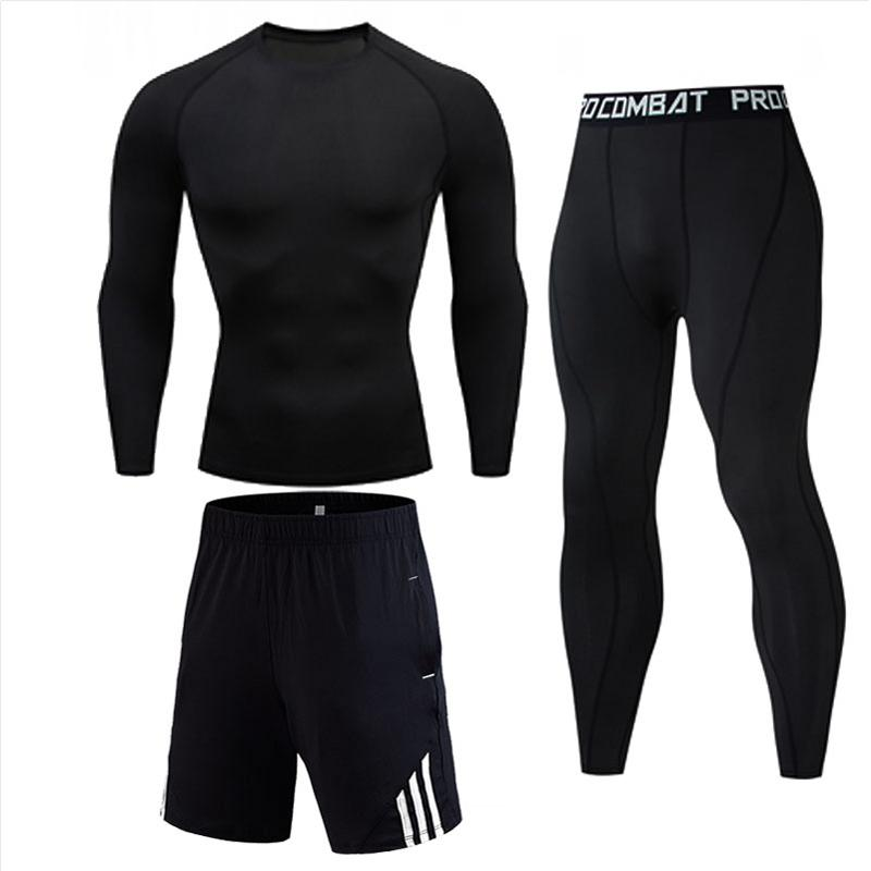 Men's Compression Pants Running suit Gym clothing Quick-drying Sport suit Winter Thermal underwear s-xxxxl New Track Men
