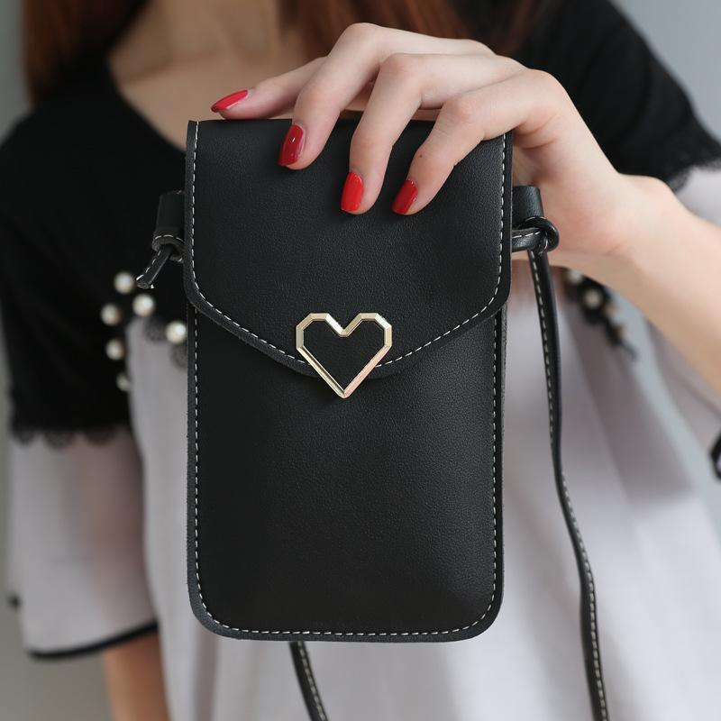 Universal Leather Cell Phone Bag Shoulder Pocket Wallet Pouch Case Neck Strap phone bag For Samsung S10 For iPhone X 8 For Huawei P30 V20