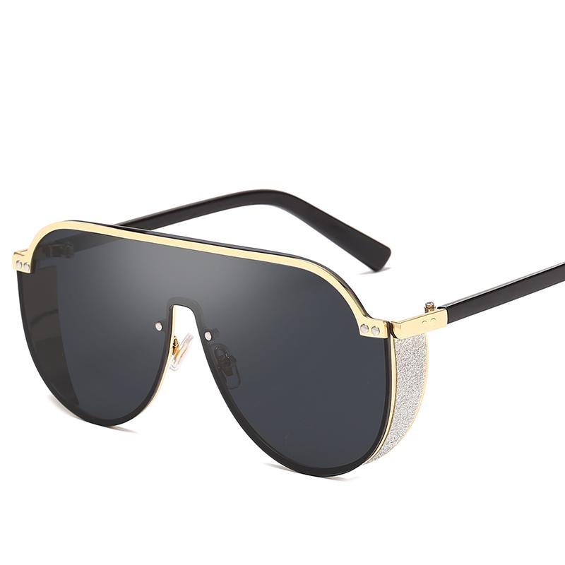 Nouveaux lunettes de soleil de la mode Gafas Hommes Femmes Square Square Punk Shades Sol Metal cadre lunettes UV400 lunettes lunettes de lunettes PCEPW