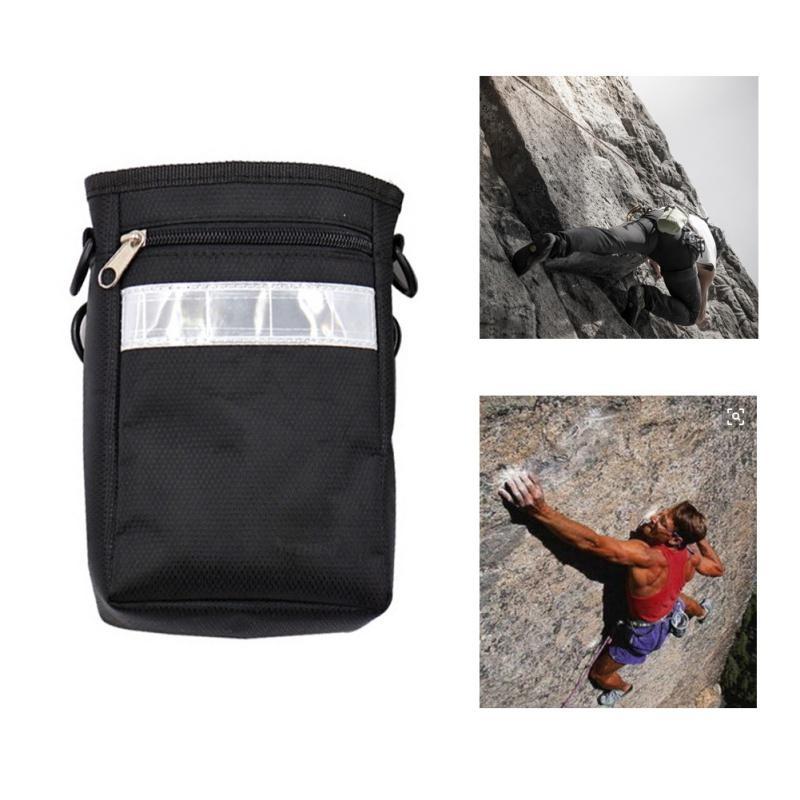 Открытый регулируемый ремень Chalk Bag Скалолазание Гимнастика скалолазов Chalk Bag с Drawstring Закрытие Карманный Чехол