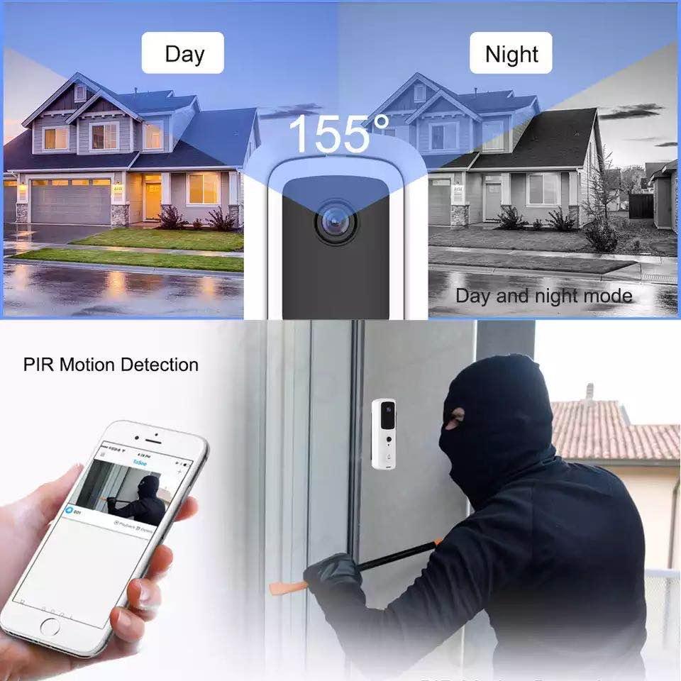WiFi بطارية لاسلكية جرس الباب كاميرا المنزل الفيديو الجرس doorphone للشقة في الهواء الطلق جرس الباب الكاميرا