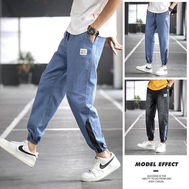 pantalon de pantalon décontracté hommes jean mince jeans d'été des hommes de grande taille mode casual-longueur de la cheville M-8XL tout-match lot