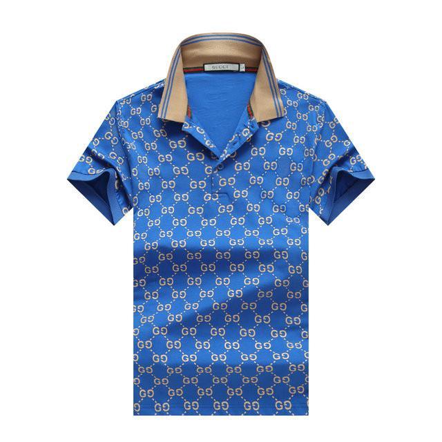 2020 Yaz Erkek modacı Erkek Polo gömlekler Lüks Moda Kısa Kollu İnce Parti Kulübü Balo Fantezi erkek gömleği # 552