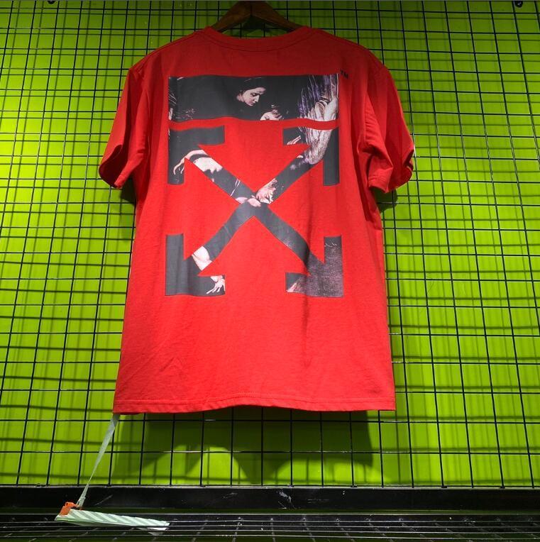 Abbigliamento estivo Uomo offwhite magliette di modo lettere stampate Tee Raffreddare Maniche corte girocollo T uomo Donne Bianco Nero Top 88sac