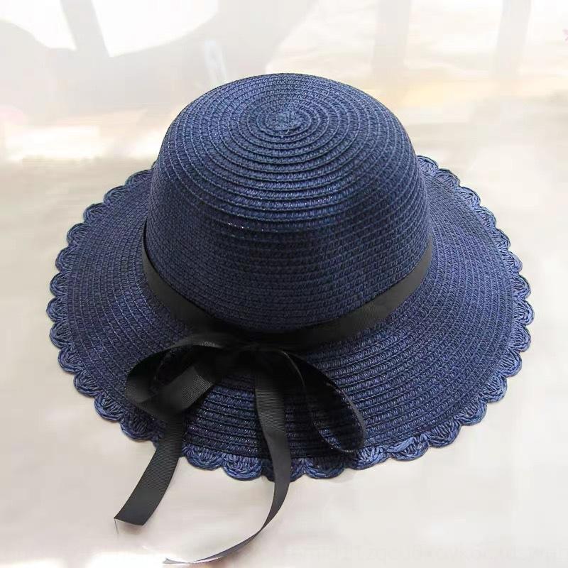 женская летняя защита солома корейски макака козырек шапки соломенной шляпы на открытом воздухе ночью шляпа ВС тканого большого край складной ВС рынок 2CCEt