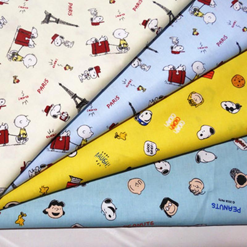 half meter cartoon animal print 100% cotton twill fabric infant baby children bed sheet bed sack cloth CR-1