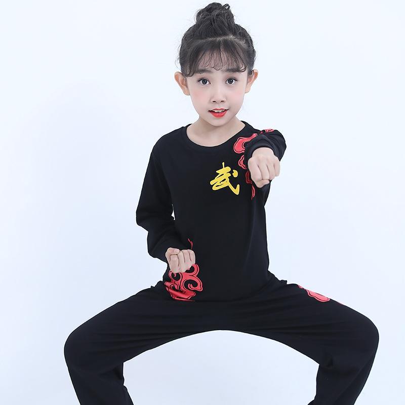Arts martiaux Vêtements pour enfants Coton manches longues Survêtements Garçons et Filles Costumes Tai Chi