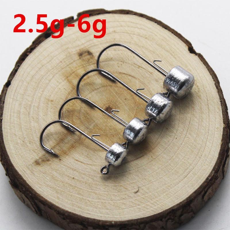 1pc 2.5G-6G Lead Head Hook High Carbon Steel Fishing Hooks LL-55
