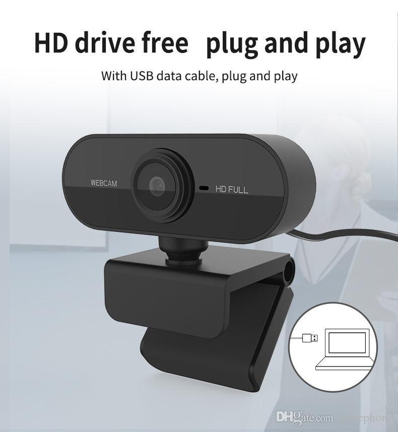 Webcam 1920 * 1080 Dynamische Auflösung HD voll Webcam mit eingebautem in Schallabsorption Mikrofon Auto-Farbkorrektur Webcam 1080P Webcast DHL