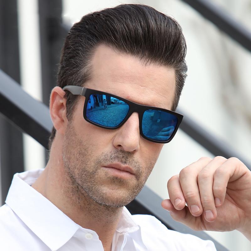 Occhiali da sole retrò vintage Uomo Driving Brand UV400 Square Designer Sun Design Occhiali da uomo GAFAS per occhiali a specchio polarizzati Goggle 2019 IGaGX