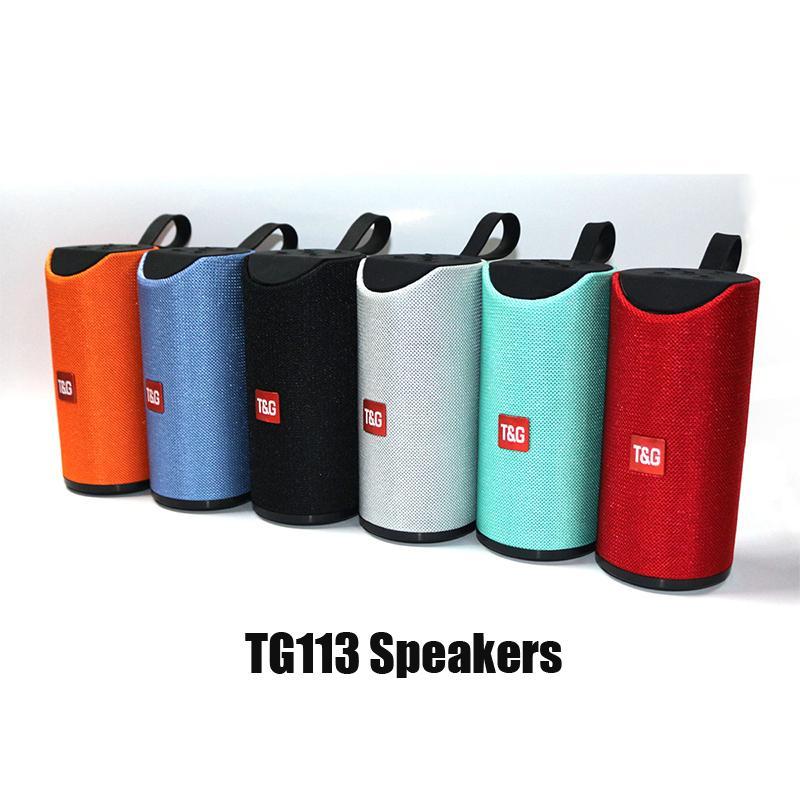 المتحدثون TG113 بلوتوث اللاسلكية مكبر للصوت يدوي نداء الملف ستيريو باس الدعم TF بطاقة USB AUX الخط في مرحبا فاي 1200MAH بطارية