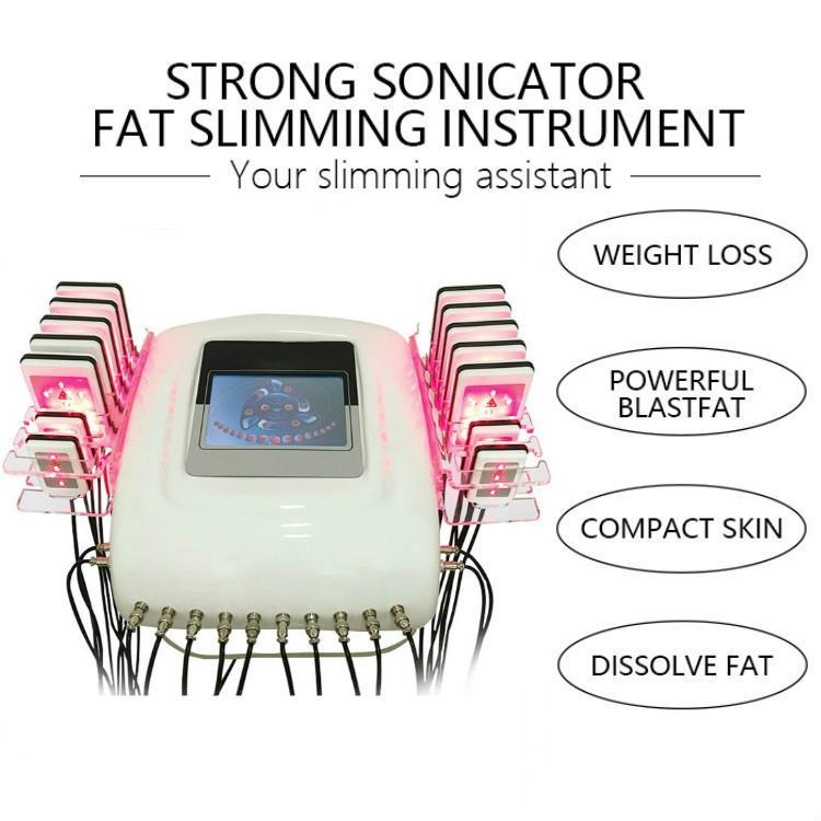 Sistema de grasa Salon Spa Clínica Láser Lipo Lipo láser más nuevo de ultrasonido cavitación adelgazamiento del cuerpo Lipo láser Máquinas