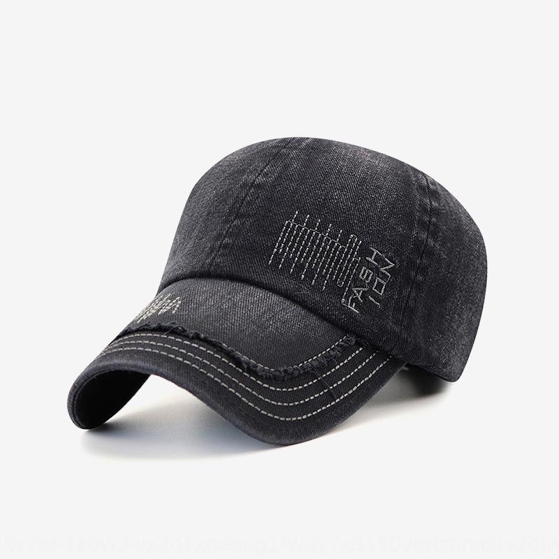 Faire vieux lavage denim broderie coton crème solaire bouchon de protection solaire lettre casquette de baseball baseball automne chapeau extérieur