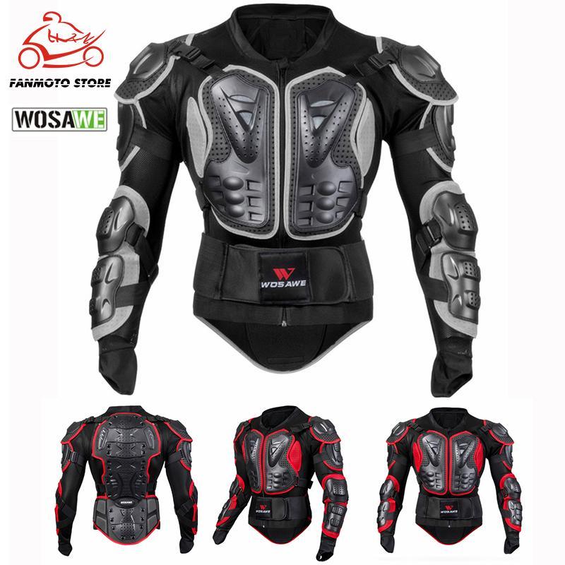 WOSAWE Sports Motorcycle Armadura Protector Jacket corpo Motocross Guarda Brace Protective Engrenagens Peito Proteção Ski