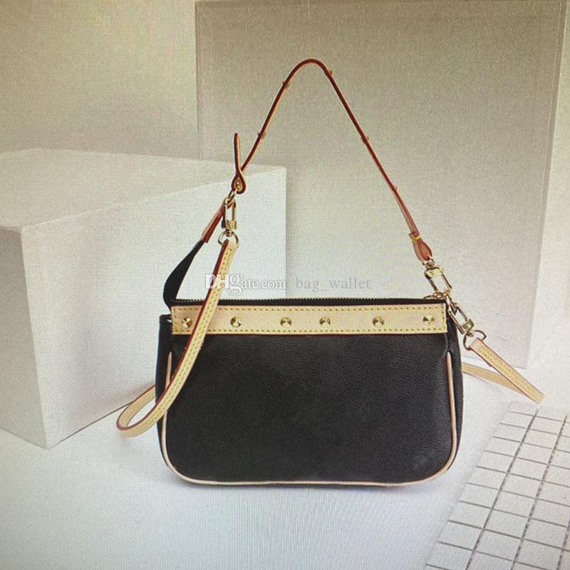 M92649 Crossbody Rivet Bag 92649 Geldbörsen Klassische Vintage Handtaschen Taschen Qualität Mono Bag Top Mode Taschen Leder Schulter Echte Frauen MFBV