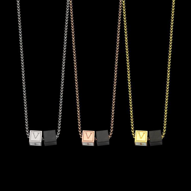 Классический титан стал Известным бренд черный двойной кости ювелирных изделий ожерелья подвеска для женщин мужчин любит ожерелье Символа любовь дружба влияет