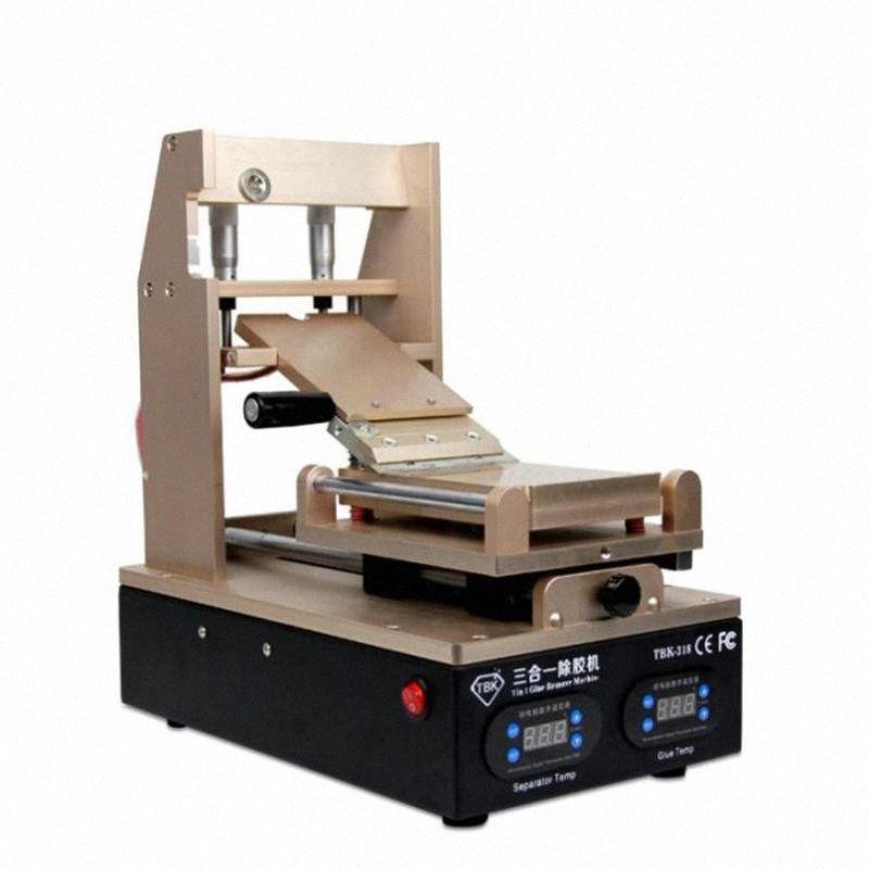 TBK 318 écran LCD vide séparateur + + Préchauffage OCA Colle Polarisation Removermobile Téléphone écran LCD Refurbish machine 3 en 1 Box Sgmn #