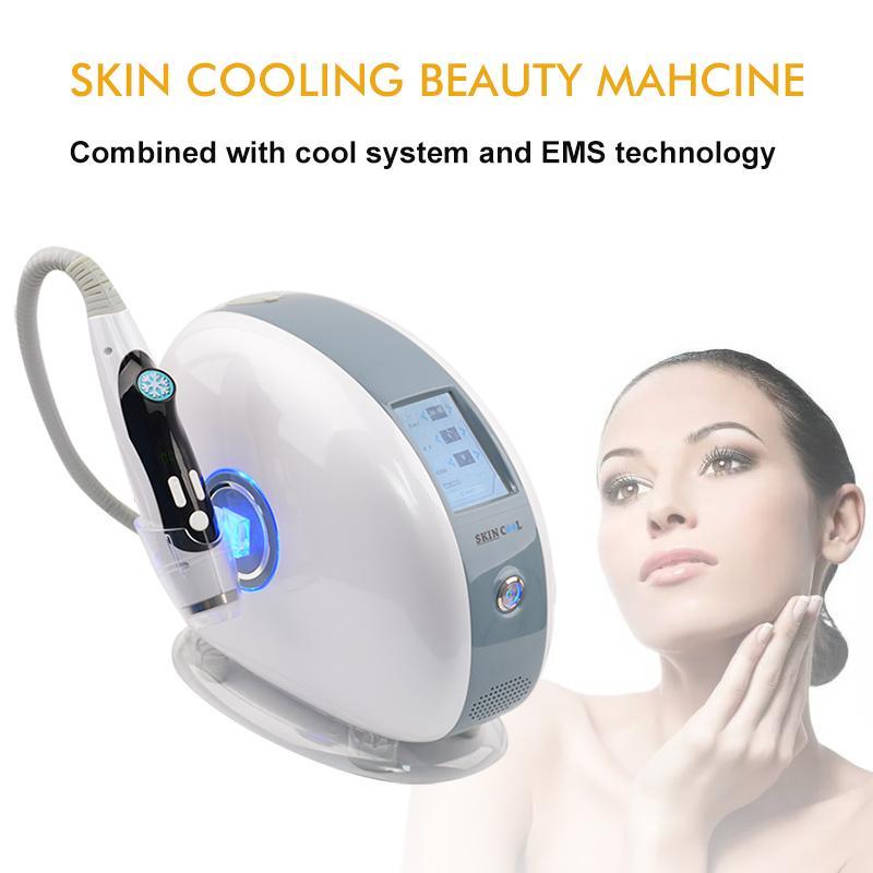 Piel RF portátil de apriete Cryo terapia de frío Cool Skin Facial Anti-Edad de radiofrecuencia Máquina