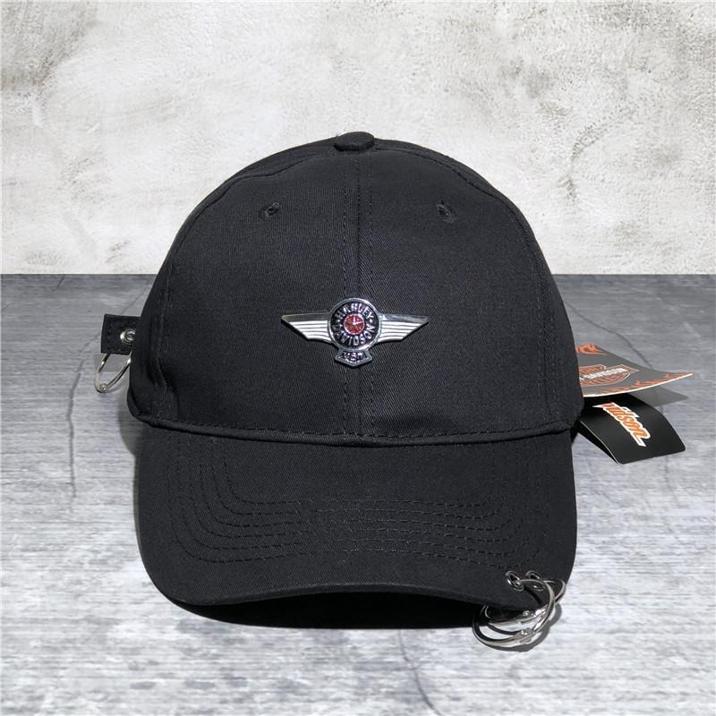 Hohe Qualität Spitz Baseball Harley Waschbaseballkappe Loch Baumwolle Schirmmütze für Männer