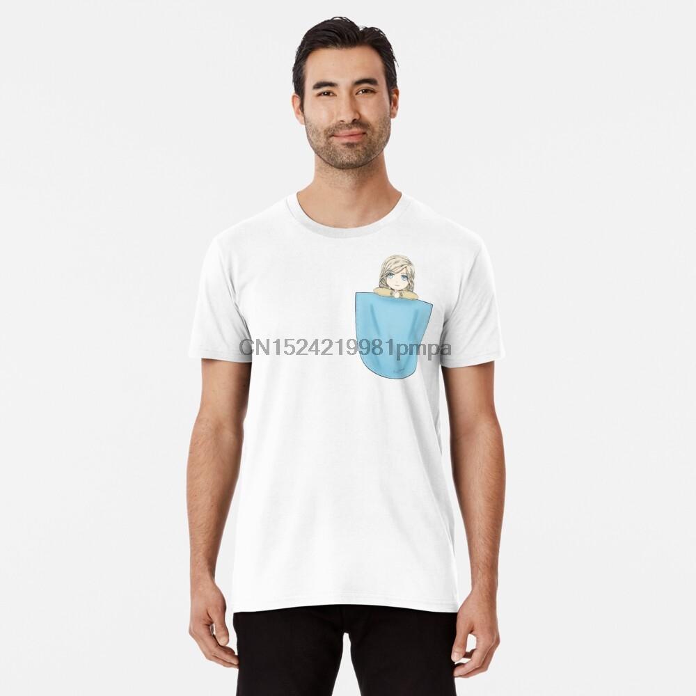 Camiseta de los hombres de bolsillo Camus prima la camiseta (1) camisetas de las mujeres
