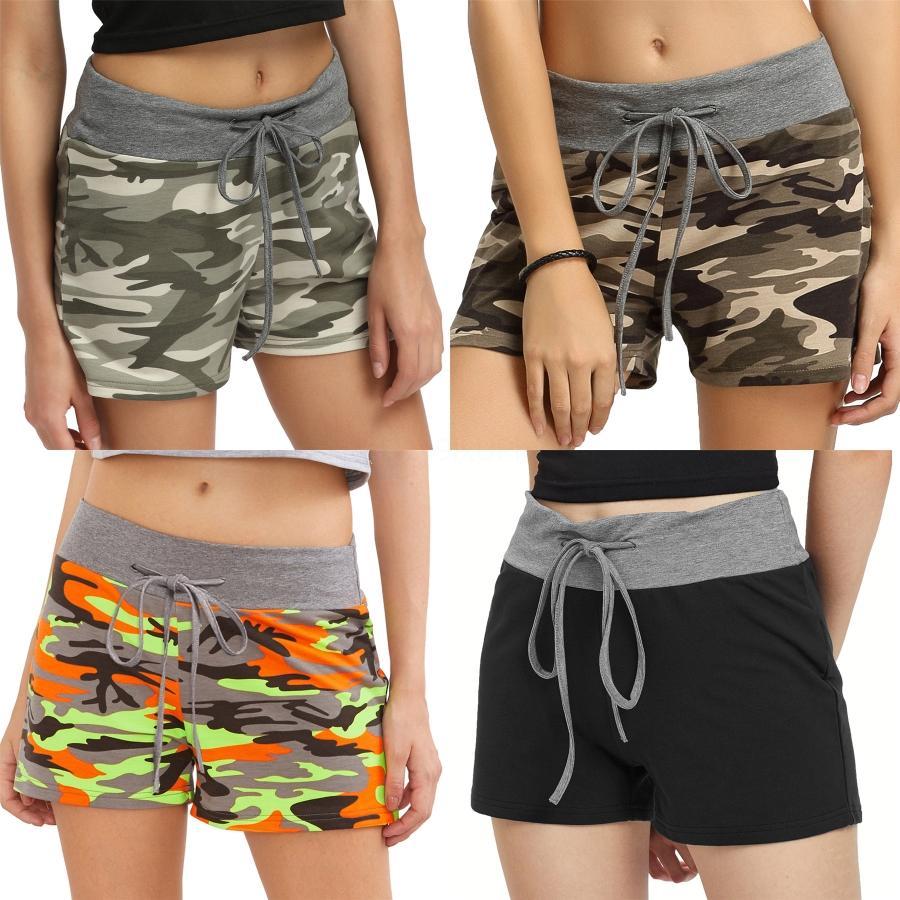 Femmes Lady Shorts Yoga Gym causales Courir Beach Sports d'été Hot Pants Camo # 1801