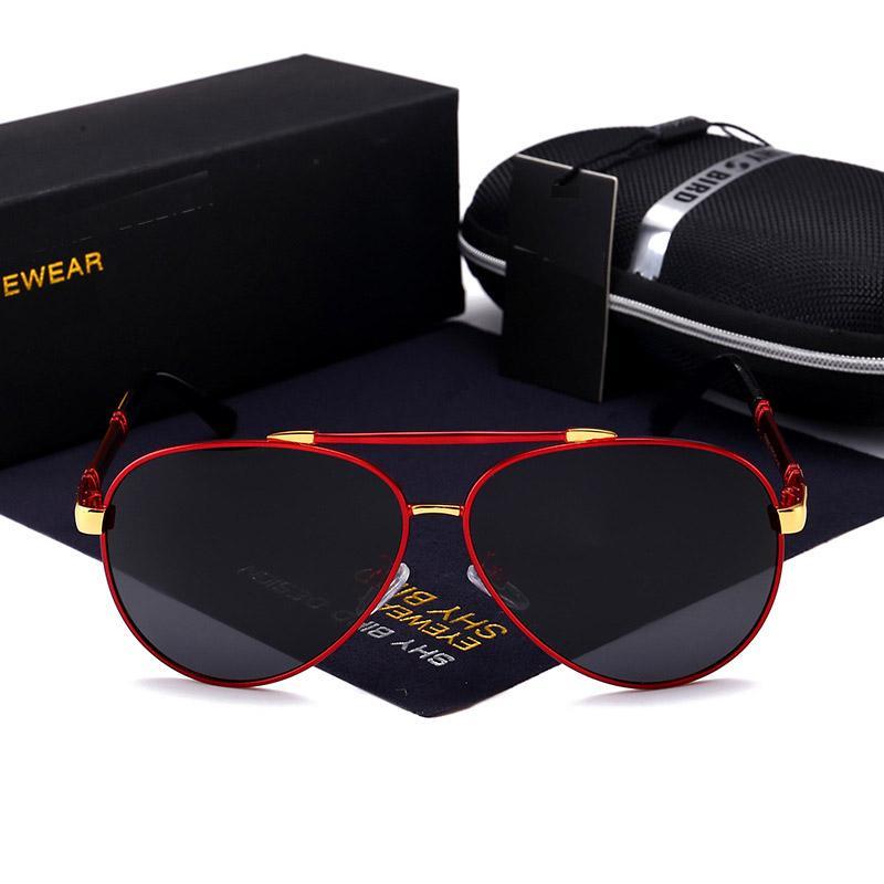 2020 جودة عالية رجالي النظارات الشمسية الاستقطاب لقيادة القيادة الطيار النظارات الشمسية الأشعة فوق البنفسجية 400 نظارات الشمس نظارات الشمس gafas de sol polarizadas