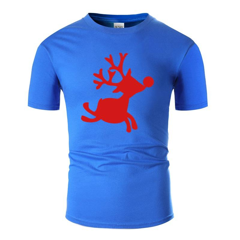 Personality Crazy Rudolph The Red Nosed Reindeer Tshirt For Men 100% Cotton Clothes Boy Girl T Shirts Oversize S-5xl