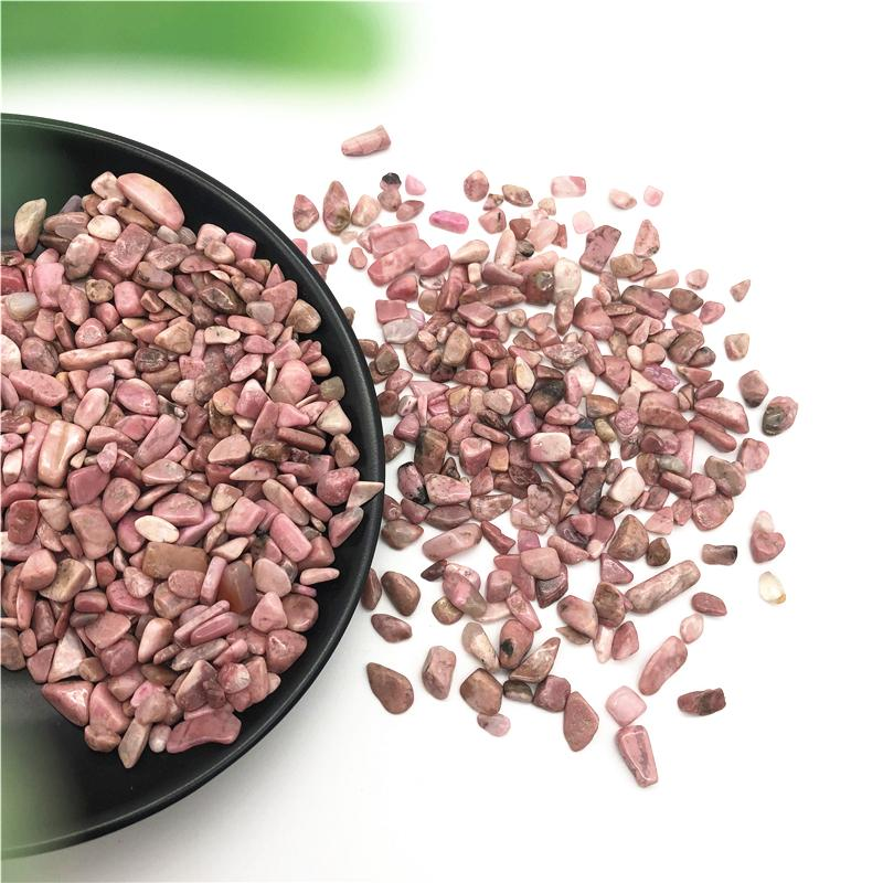 50g 3 Sizes Natural Rose Pink Rhodonite Crystal Gem Stone Freeform Tumbled Healing Stones Natural Stones and Minerals