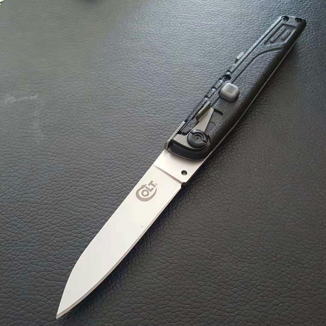 Colt II única ação tática autodefesa dobrável EDC faca de acampamento faca de caça facas xmas PD00 presente