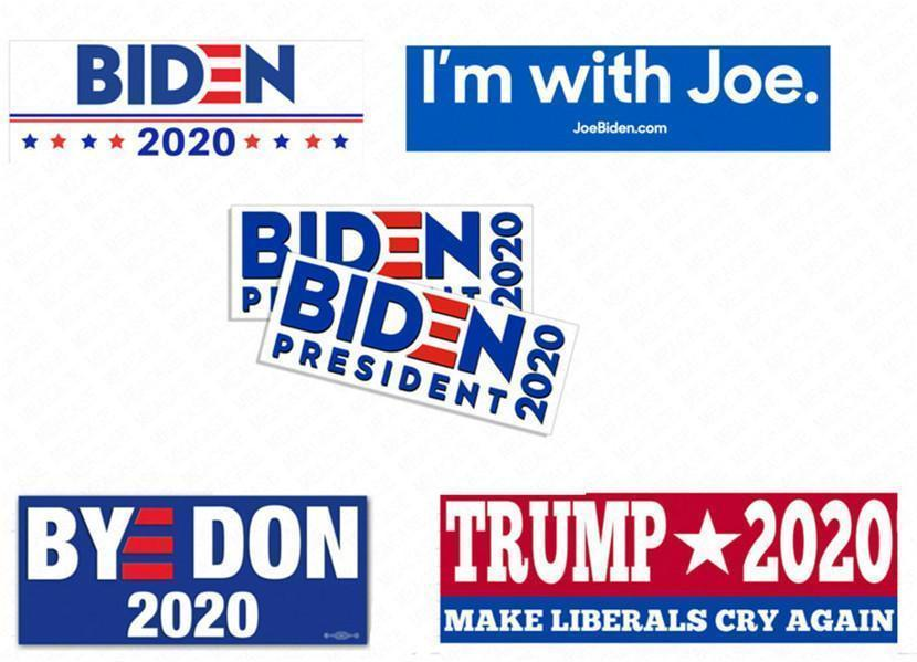 President Joe Sticker Biden Pvc Trump Bumper Decals 10pcs/pack Car Stickers Usa American Campaign Paster Wall Suitcase Accessories D62903