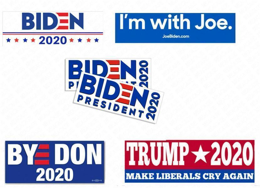10pcs presidente Joe Biden Etiqueta de pvc Trump Bumper decalques / embalar adesivos de carro americana dos EUA Campanha Paster parede Suitcase Acessórios D62903