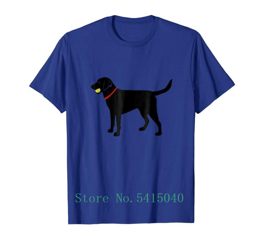 Мужская футболка 2020 Дизайн лабрадор ретривер Fetch, Black Lab Играть Бал Футболка Футболка Прохладный Мужская футболка Hipster на заказ