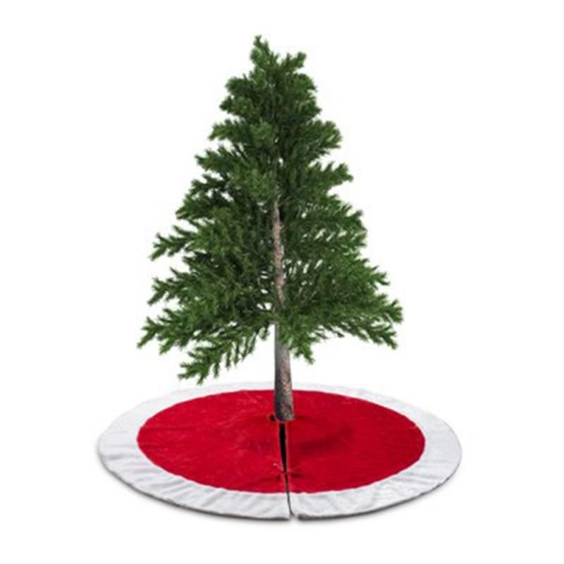 90 / 120cm Santa Hediyelik Çanta Desen Beyaz Kırmızı Noel ağacı Etek Noel Yılbaşı Ev Dekorasyon Aracı Dropship /