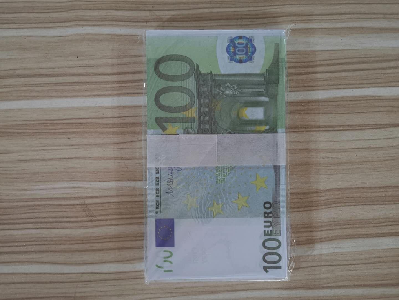 Деньги бар проп игрушки Банкнота-наборы Коллекция Fake-бумага Евро 2pcs в for10 / 20/50/100/200/500 Novelty7