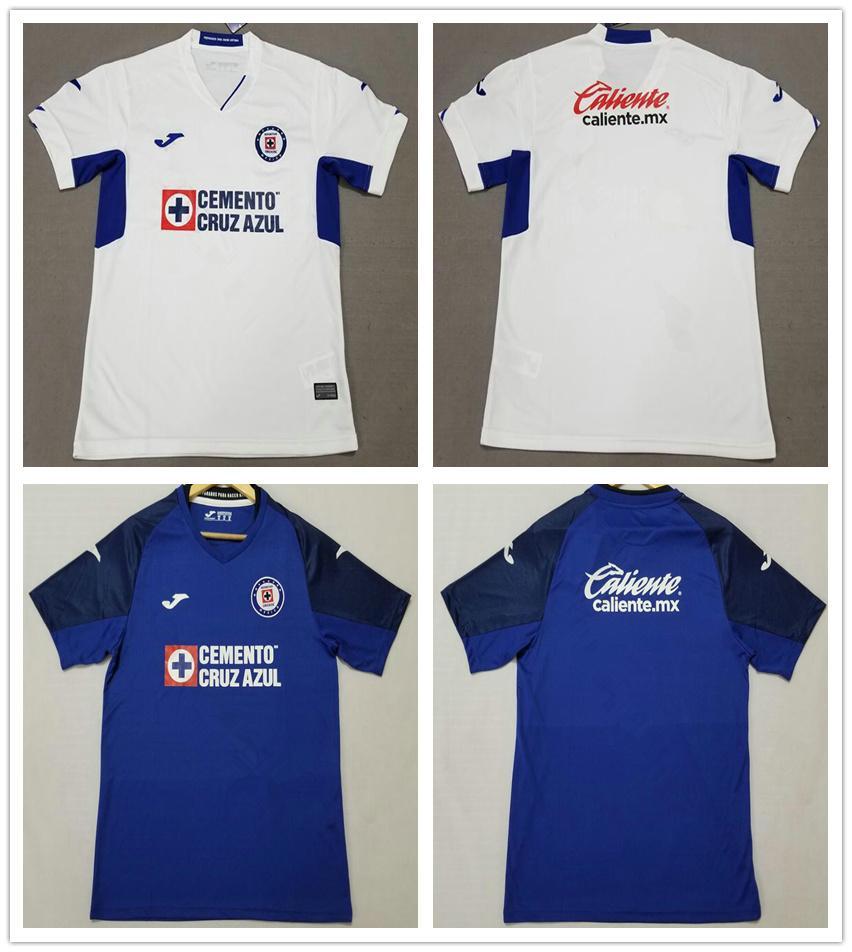 19 20 Season FC Cruz Azul Soccer Jersey 10 MONTOYA 9 CARAGLIO 7 CAUTE 17 MENDEZ Custom Cruz Azul Football Jerseys Shirts Unifrom