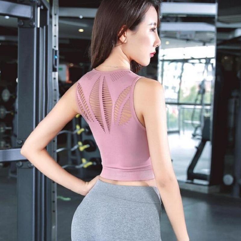 Sorunsuz spor Spor Darbeye Gömlek Koşu Egzersiz Hızlı Kuru Dikişsiz Yelek kadar Fitnes Push için Kadınlar Seksi Crop Tank Top top
