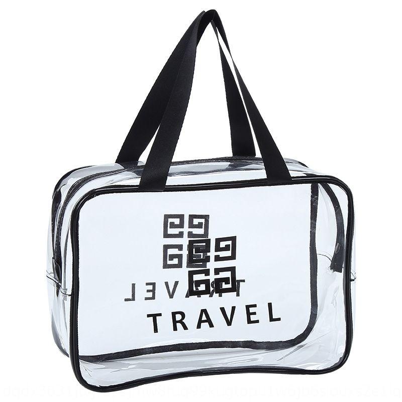Sac cosmétique Voyage coréen cosmétique transparent à grande capacité portable stéréo PVC sac de lavage imperméable à l'eau