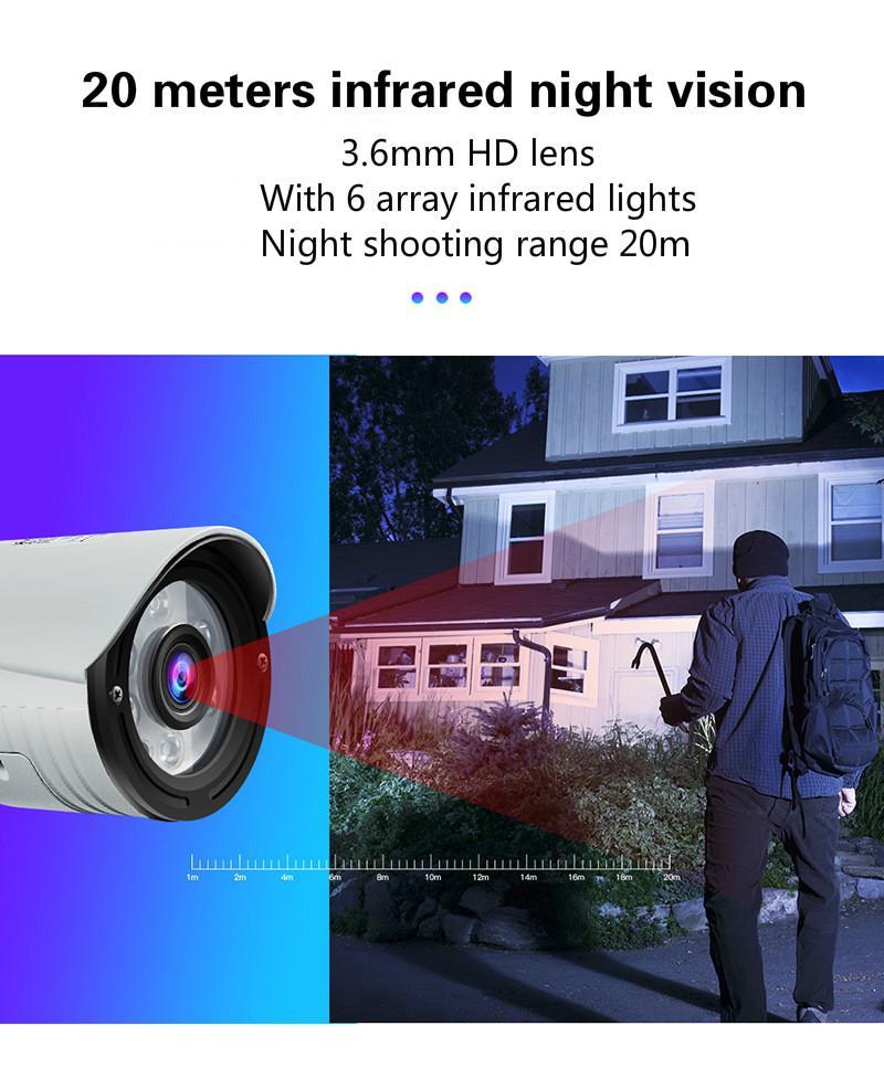 Outdoor Wireless-Kamera 2 Millionen Pixel 4-fach Zoom Überwachung Handy Fern Pistole Typ Netzwerk Kameraüberwachung