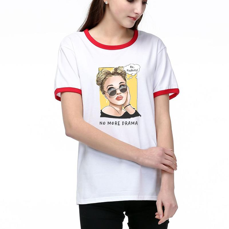 Mulheres Designer camisetas Summer Fashion Tops Pattern Lady Tees respirável manga curta menina Impresso Tees feminina Melhor Algodão Qualidade Mistura 9