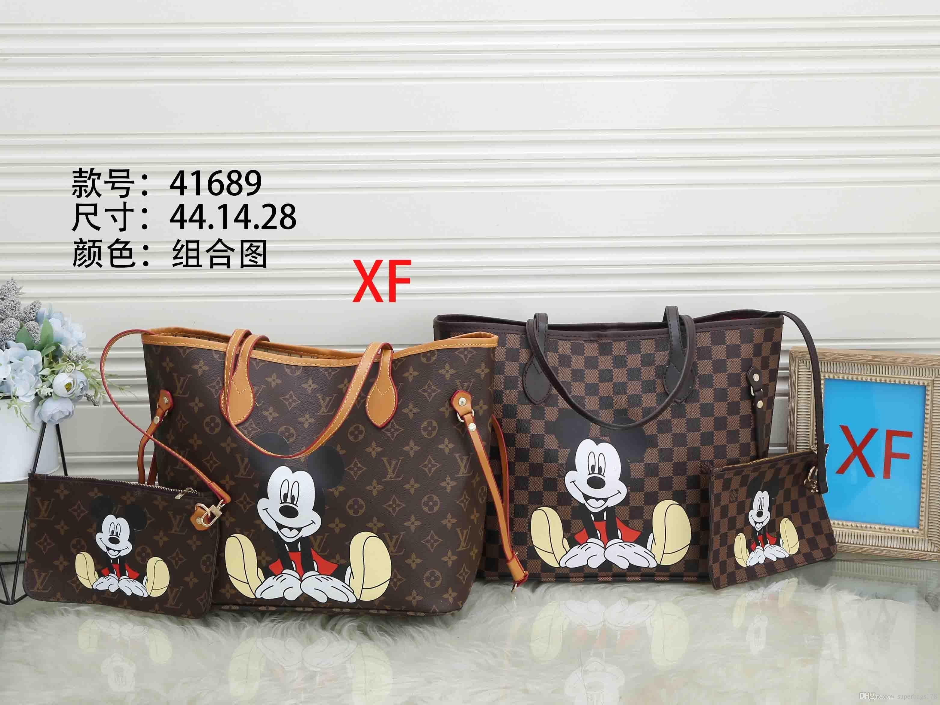 Acreditación XF 41689 Mejor alta calidad del precio de las señoras de bolso de mano individual del bolso del totalizador del hombro mochila cartera