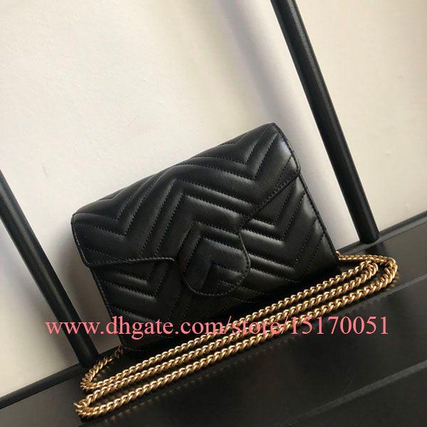 nouveau mode célèbre desinger femmes sac bandoulière épaule de la chaîne en cuir véritable de haute qualité Sacs dame petit sac avec la carte holder186