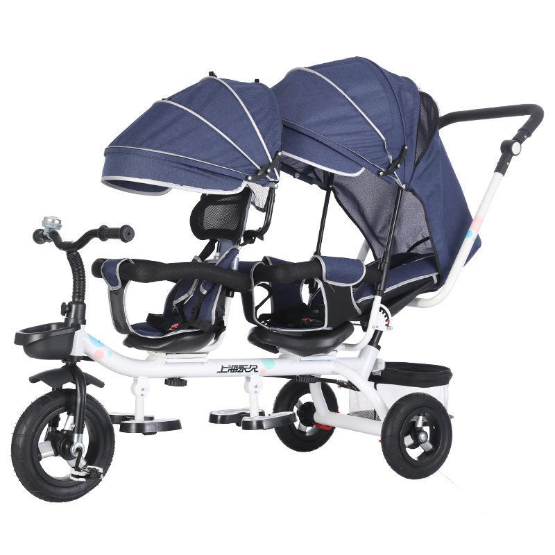 الأطفال دراجة ثلاثية العجلات طفل نزهة قطعة أثرية دائمة جنبا إلى جنب عربات التوائم 1-7 سنوات من العمر عربة الطفل